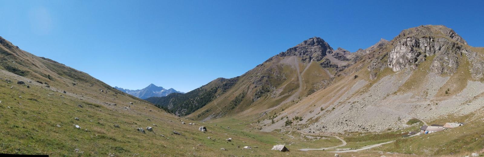 l'arrivo all'alpe Seivaz....