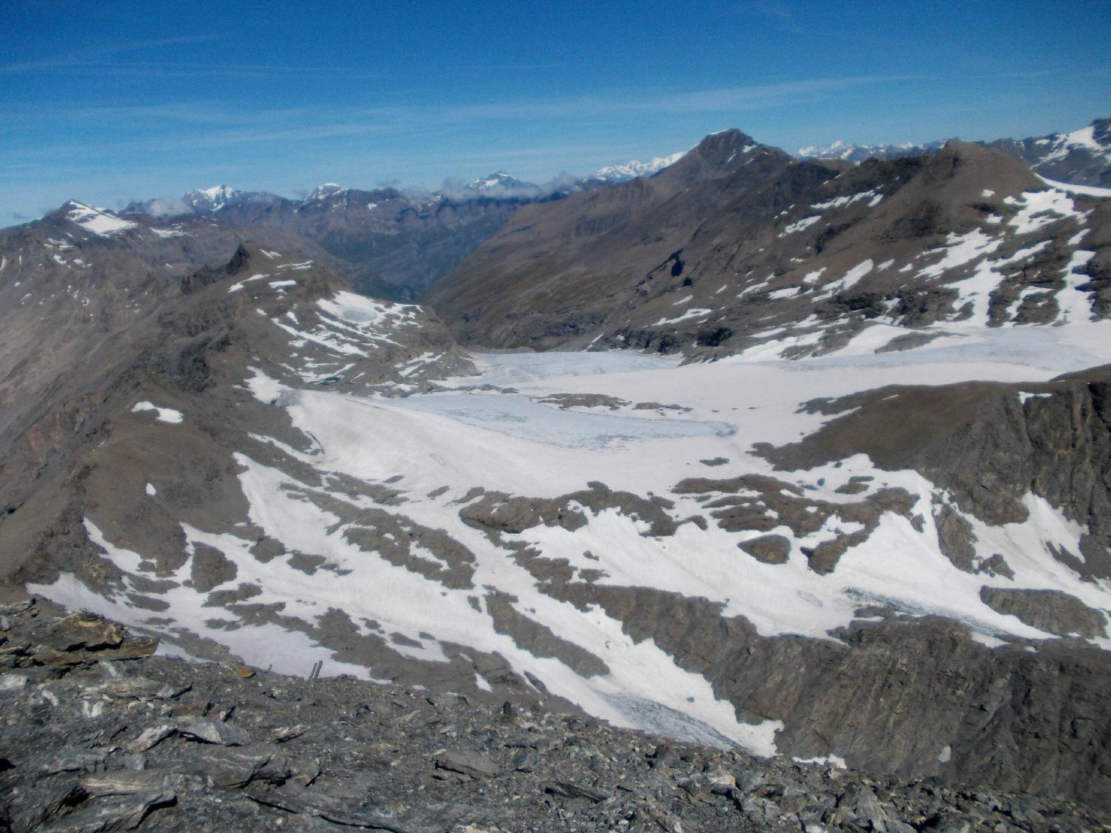 il ghiacciaio e la Pointe de Charbonelle