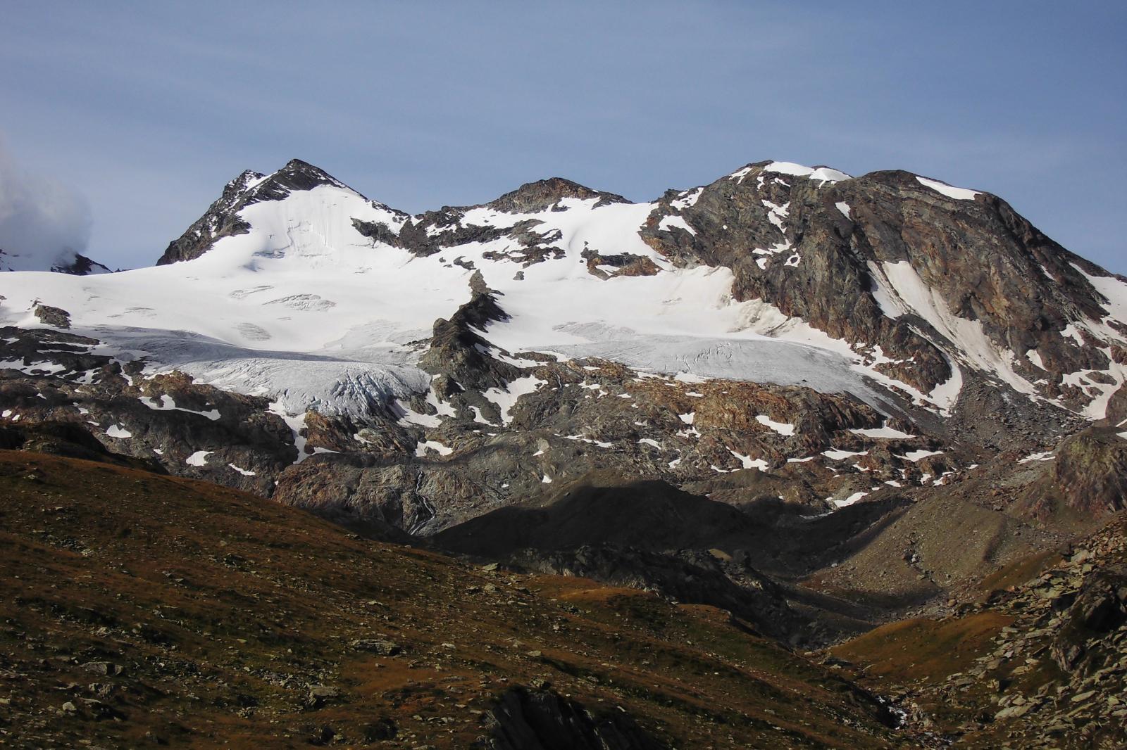 Il mont Doravidi dal lac du Fond