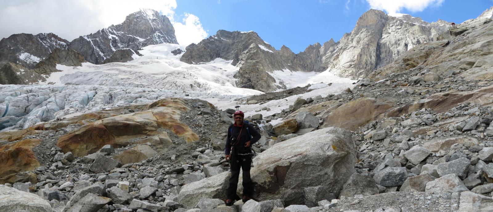 Panoramica del bacino glaciale del Freboudze