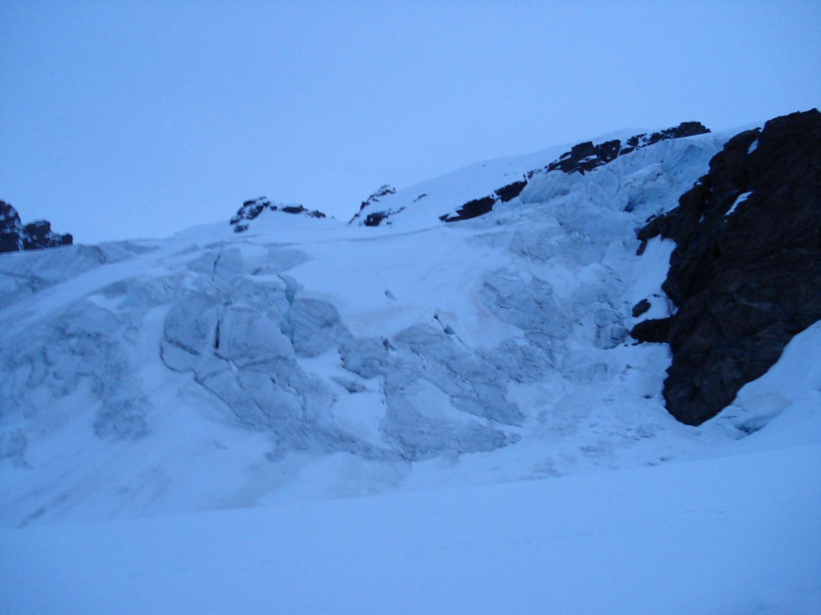 in pieno ghiacciao di verra