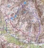 cartina con traccia della traversata a nevache