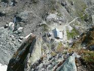 Il rifugio visto dopo il camino di L4