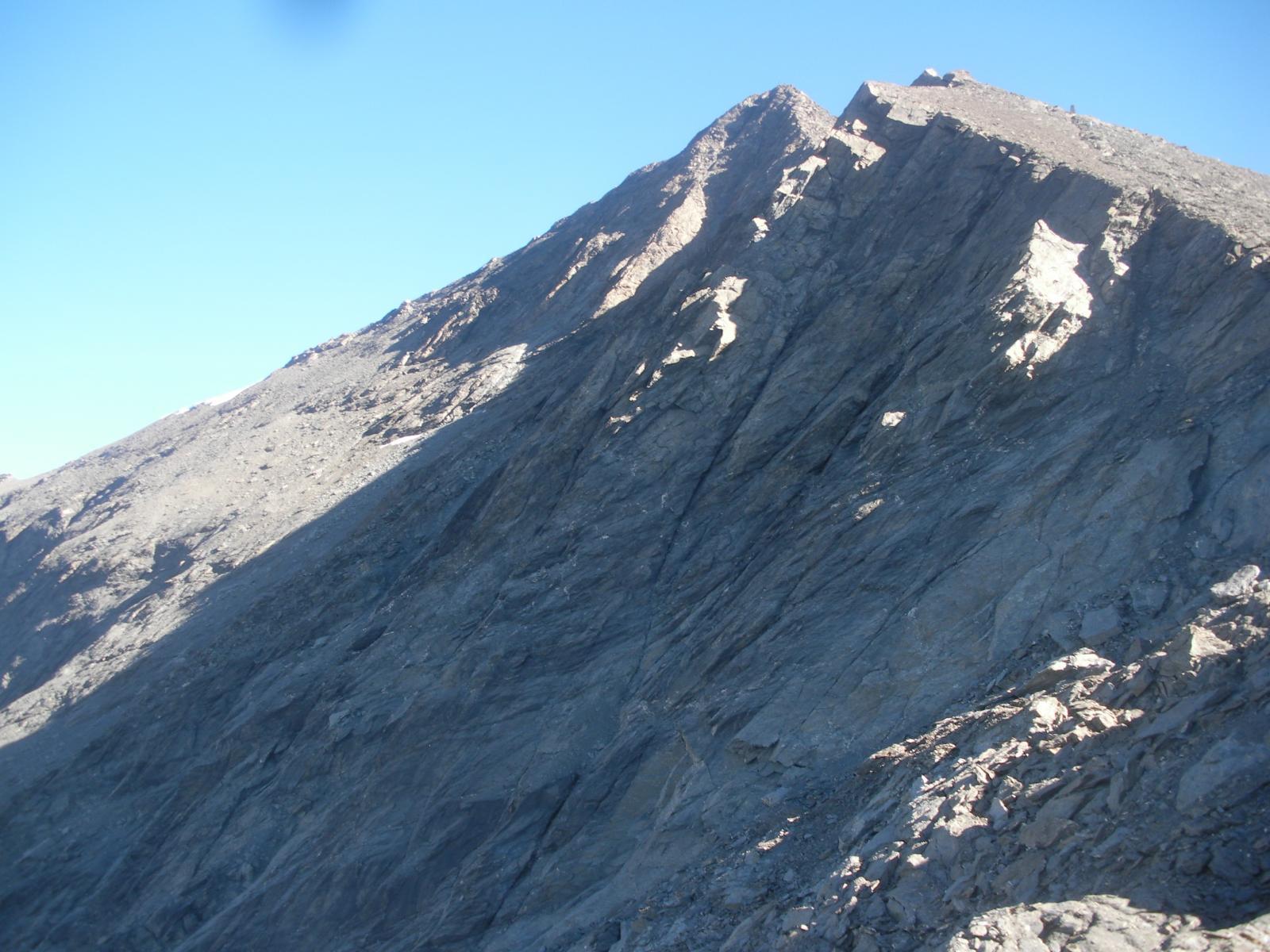 la parete sud.ovest..dalla cresta sud..