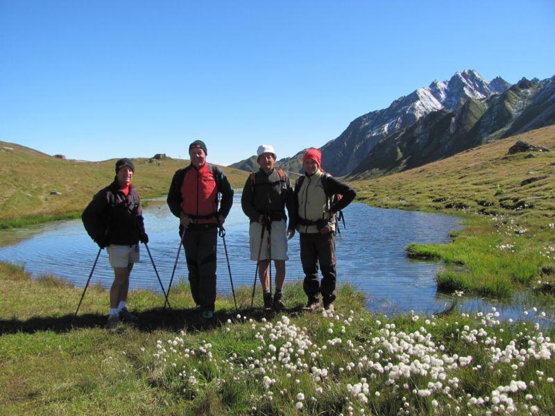 Con i compagni di escursione al Passa San Giacomo