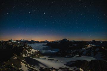 notte dalla vetta del rocciamelone