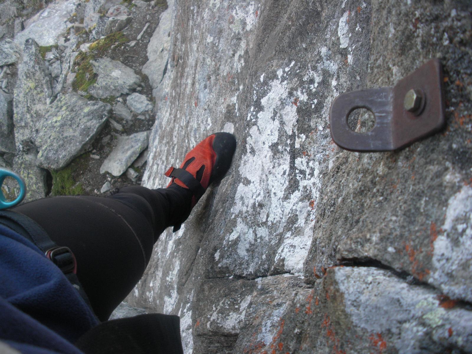 ..in arrampicata libera nel diedro..