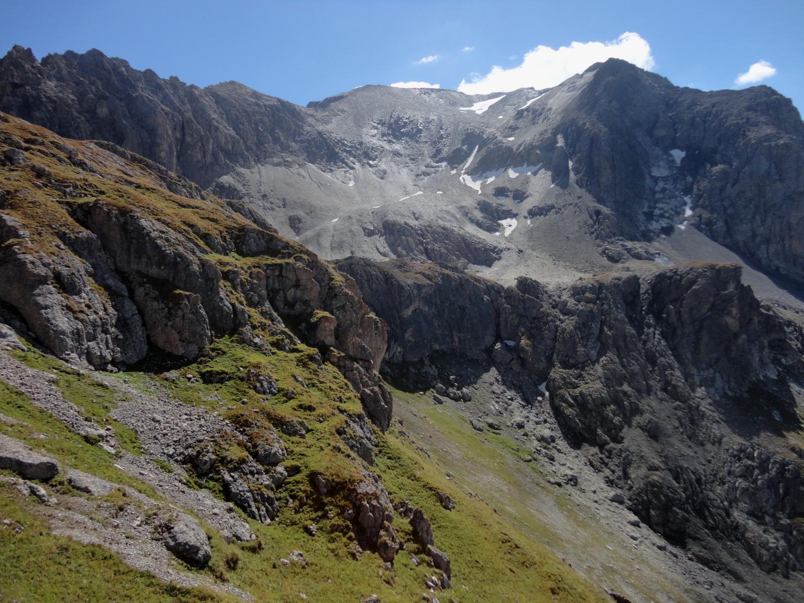 il traverso sopra il Lac des Cerces ed il pendio finale