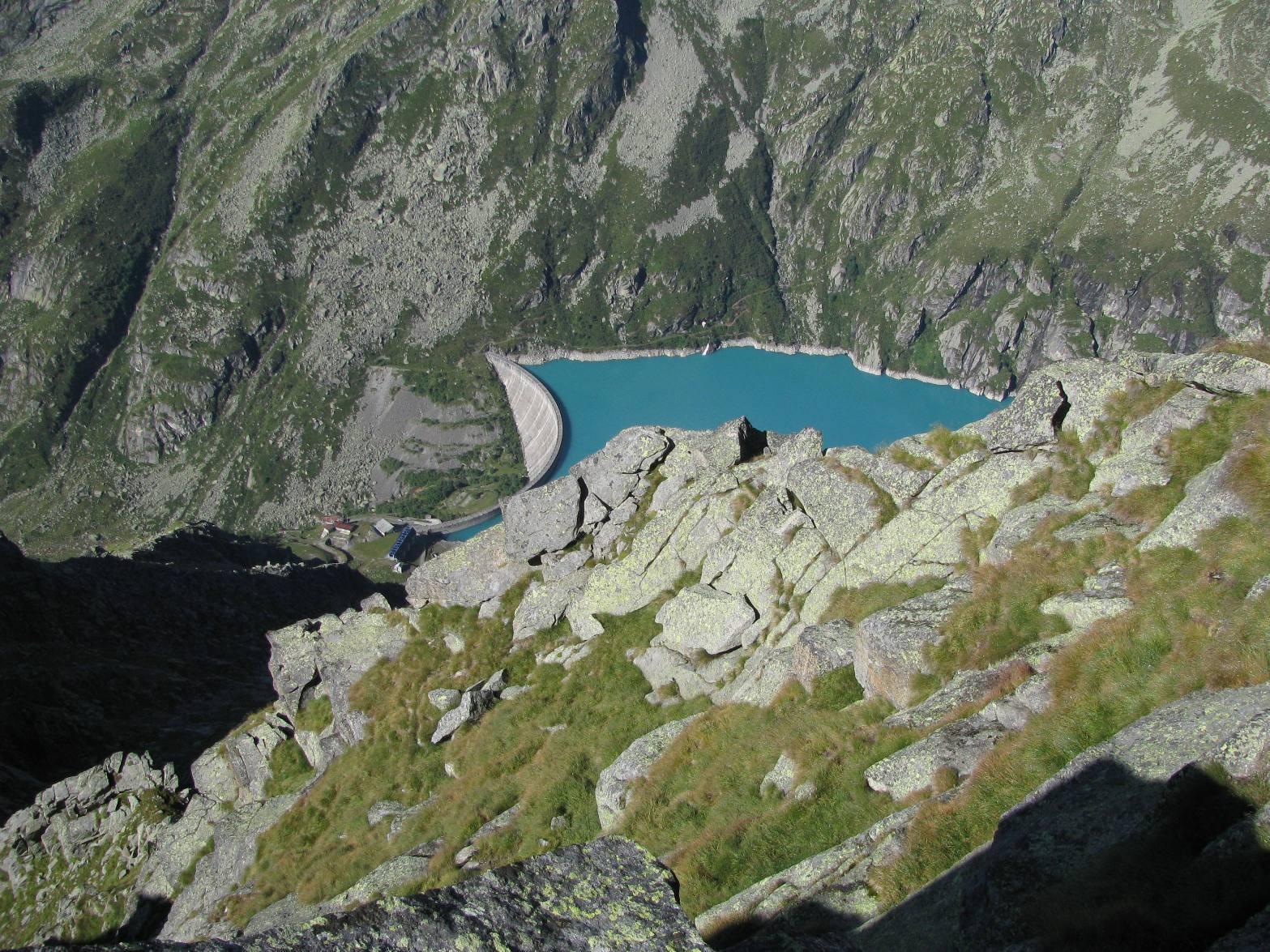 Dalla vetta, vista parziale del Lago di Telessio