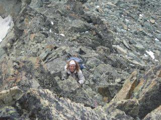 In salita sulla cresta