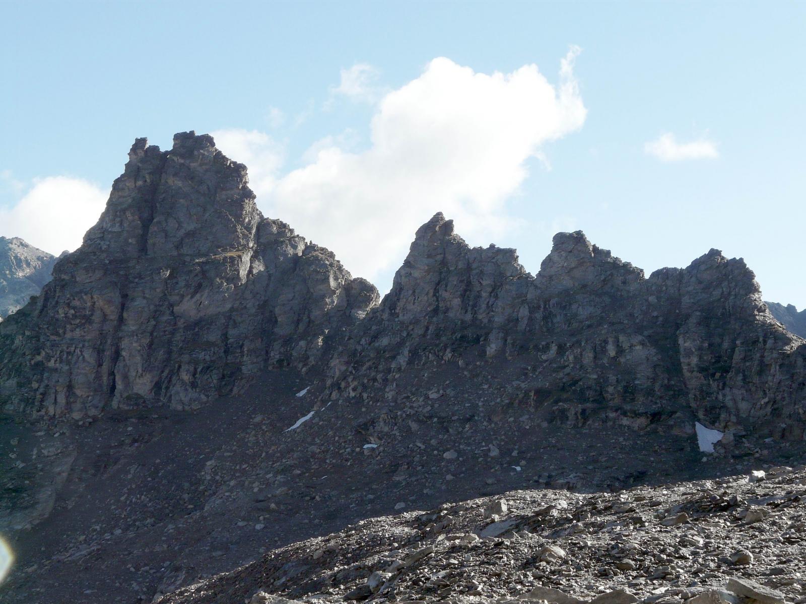 Grand Cordonnier Cresta Sud parete est (Via Barale) dal colle del Sommeiller 2014-09-06