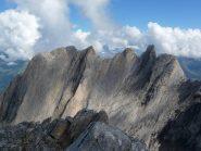 vista dalla vetta sulle cime del lato opposto della Ochsental