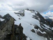 Il ghiacciaio di Entrelor è molto meno spelacchiato di altri anni