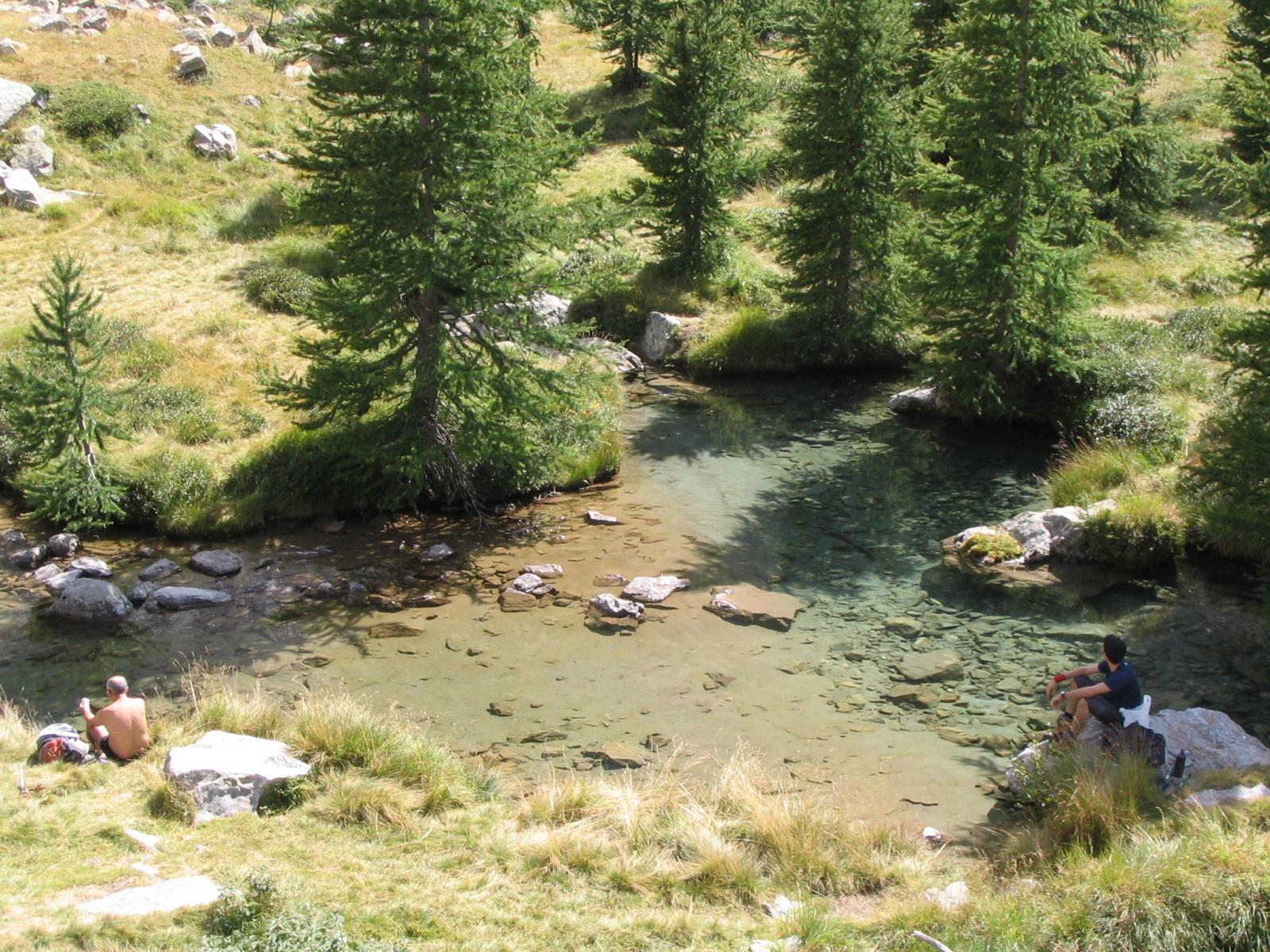 Il laghetto nel vallone del Lorousa merita una sosta