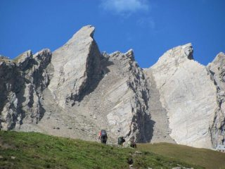 escursionisti sull'Alta Via