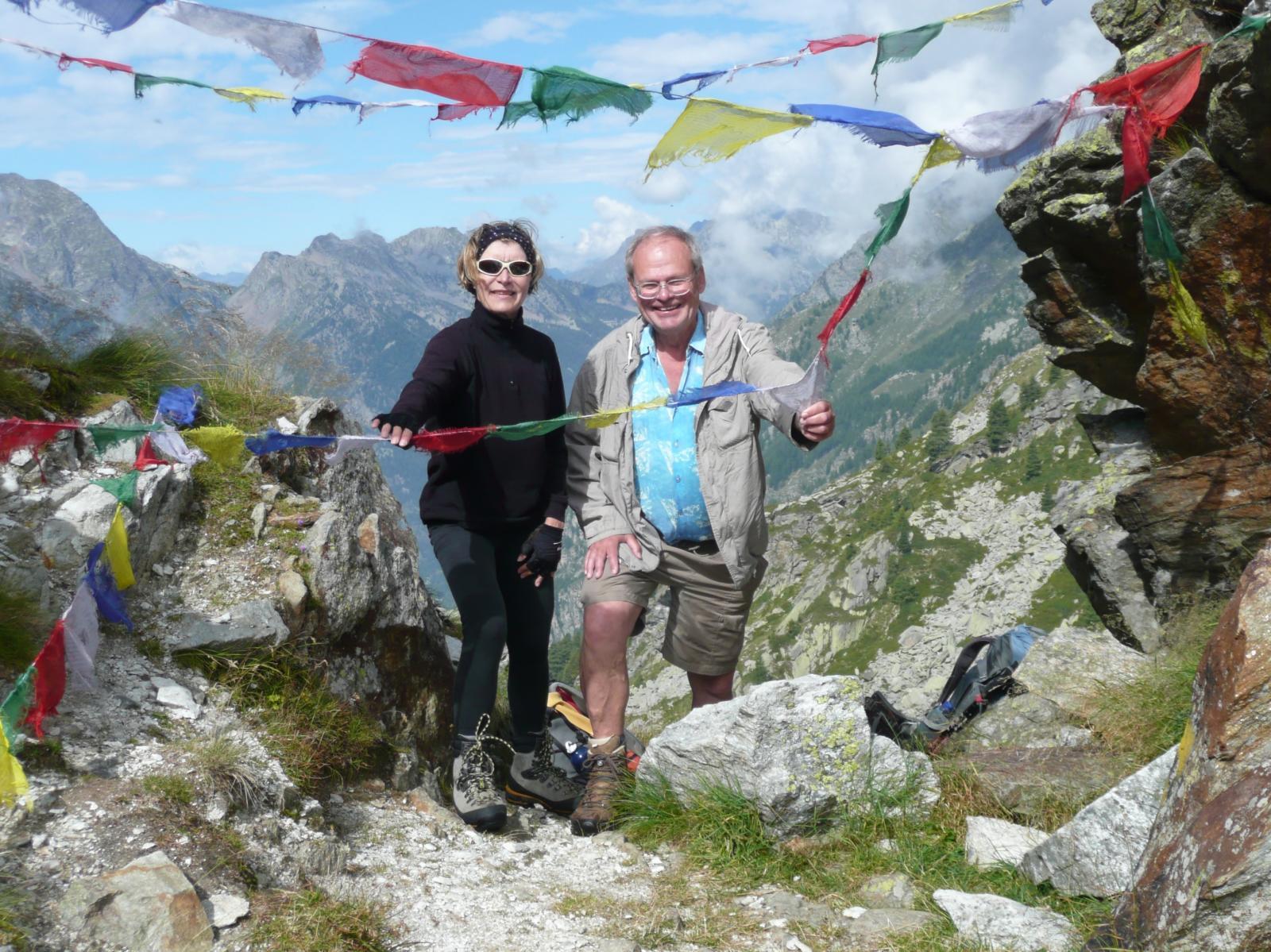 il Signor Nicolas (grande frequentatore delle nostre montagne) con Germana alla Mologna Piccola