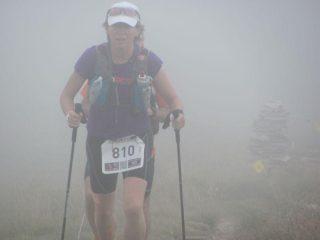 concorrente avvolta dalla nebbia