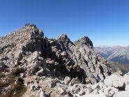 09 - sulla cresta finale, anticima Grand'Hoche, Grand'Hoche e Guglia d'Arbour