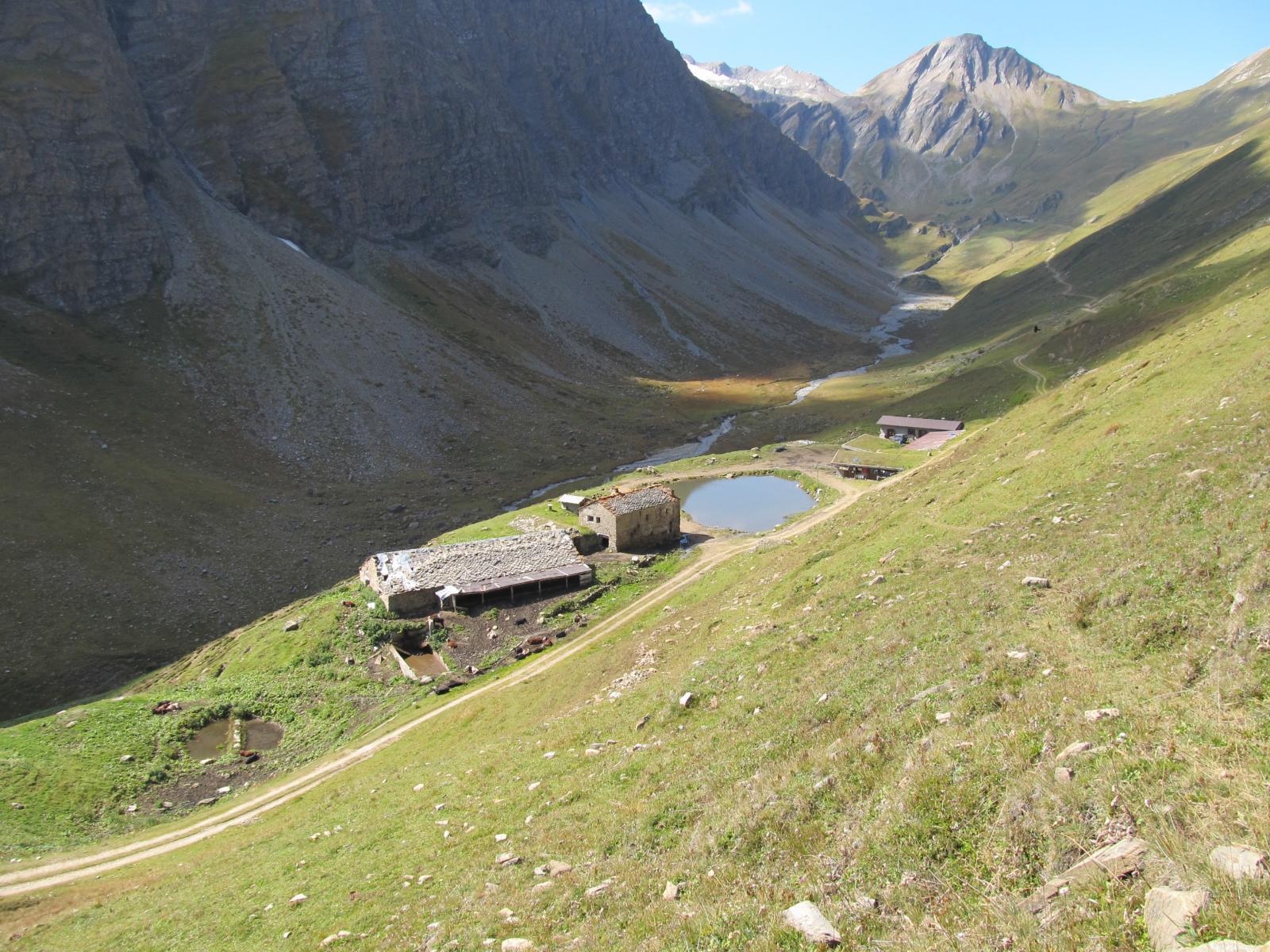 Alpe Chavanne di mezzo, il colle sullo sfondo.