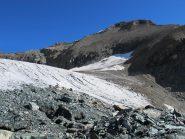 Arrivo al ghiacciaio di Ciamarella