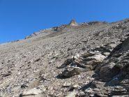 Sulla traccia verso la cresta O