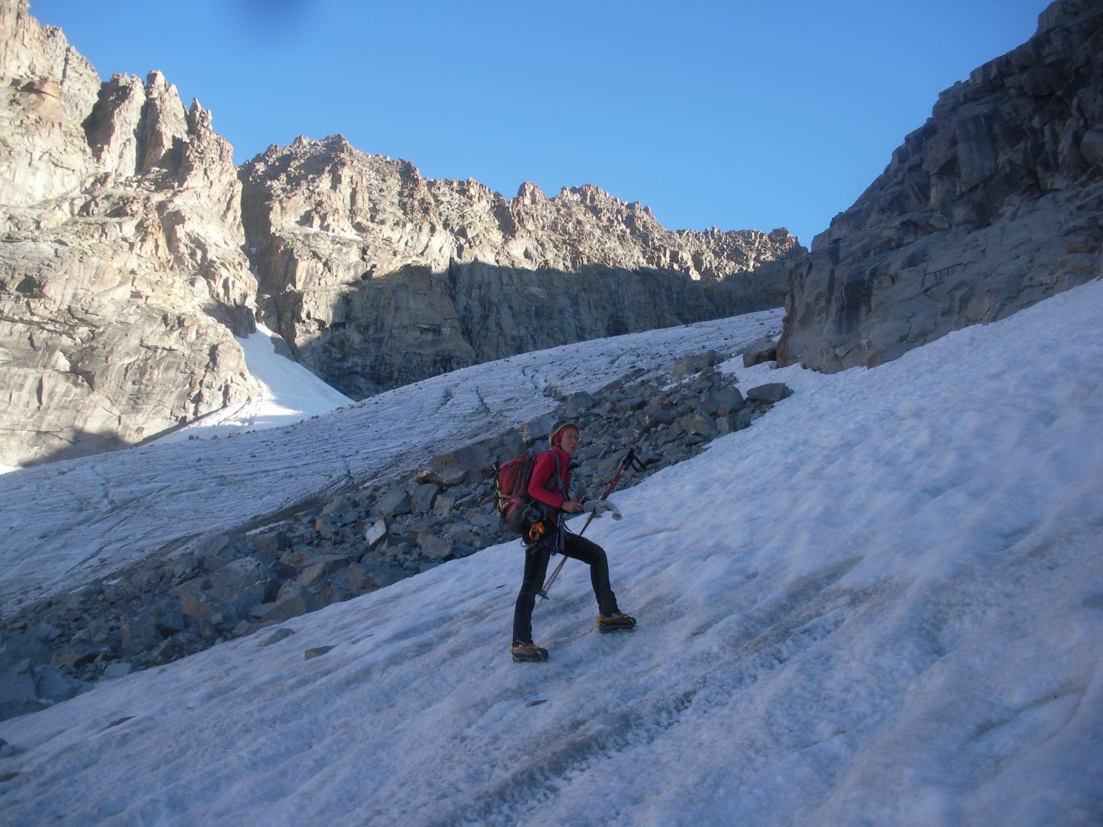 sul ghiacciaio di Roccia Viva..verso la Testa di Money..