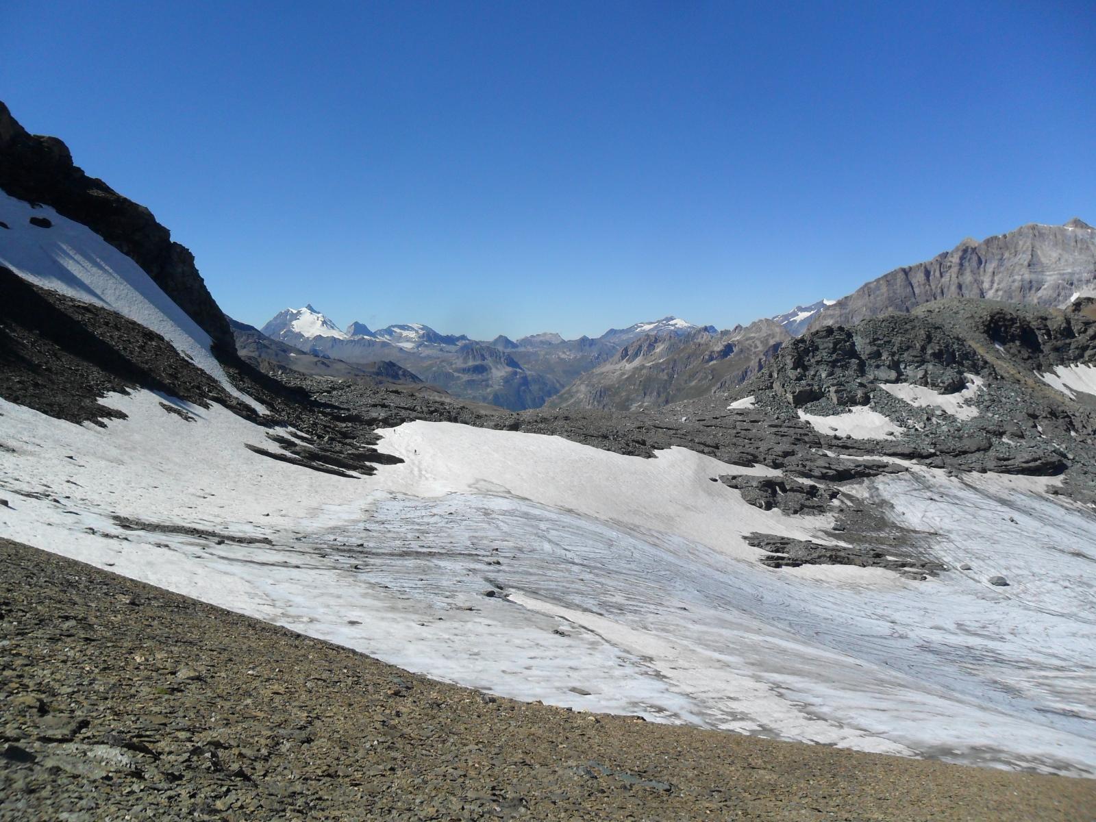 Il ghiacciaio al Passo della Vacca