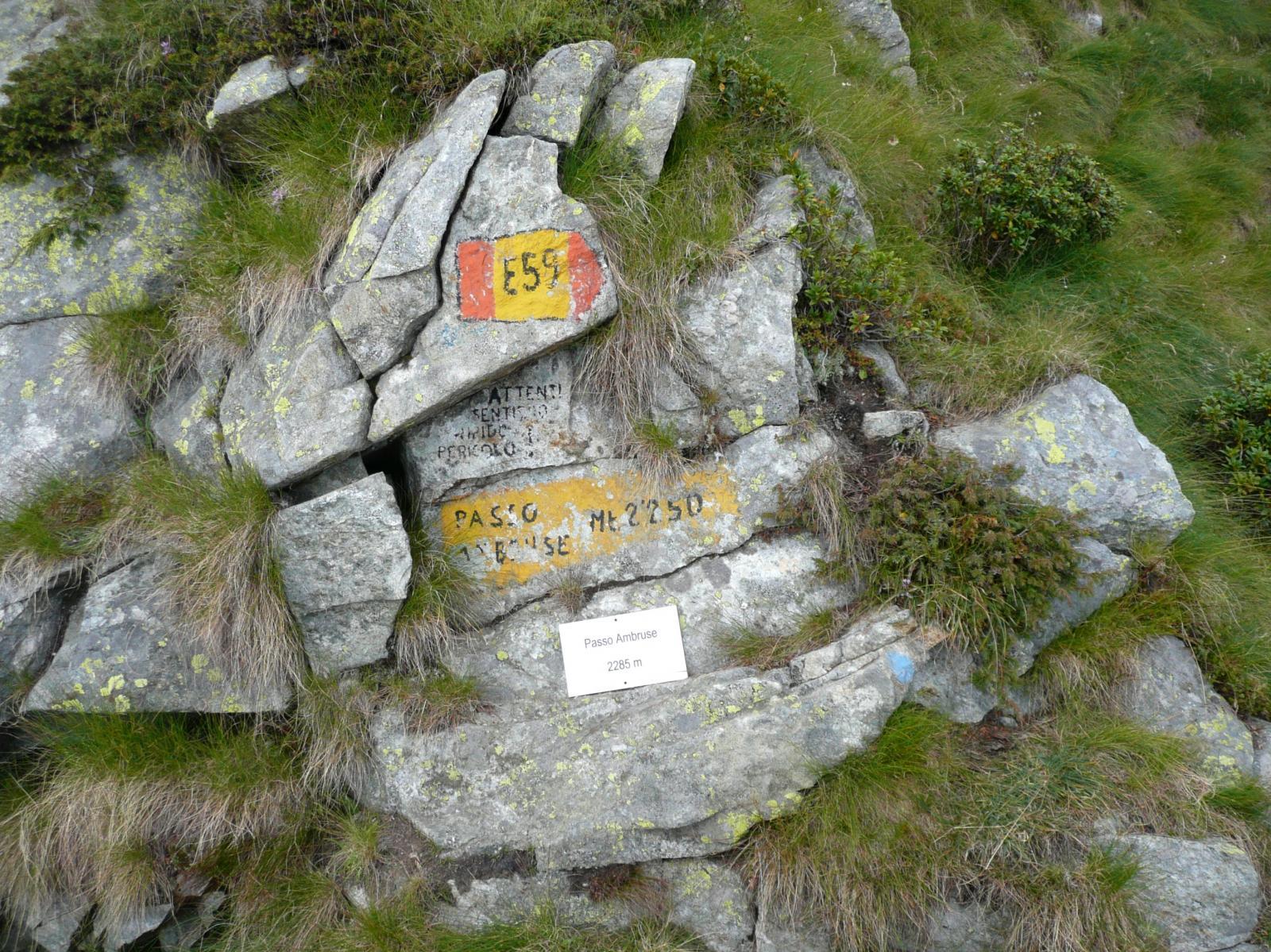 il Passo Ambruse, punto più alto della traversata