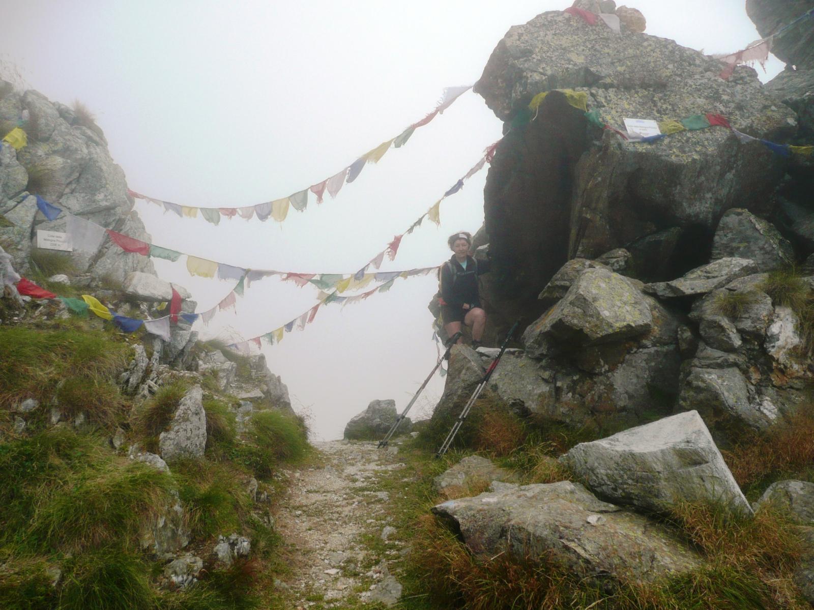 Colle della Mologna Piccola (nella nebbia)