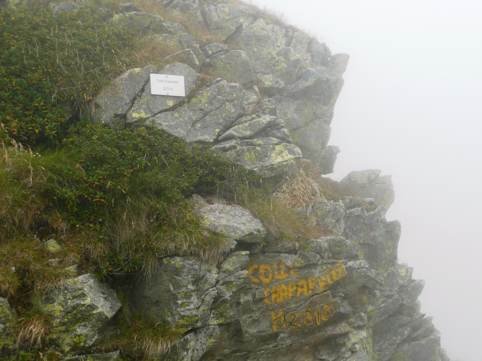 al Colle Chaparelle siamo già nella nebbia