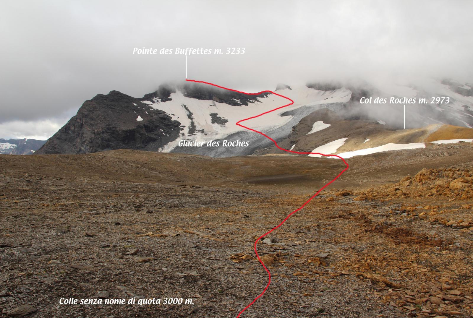 la cima e la seconda parte della via di salita