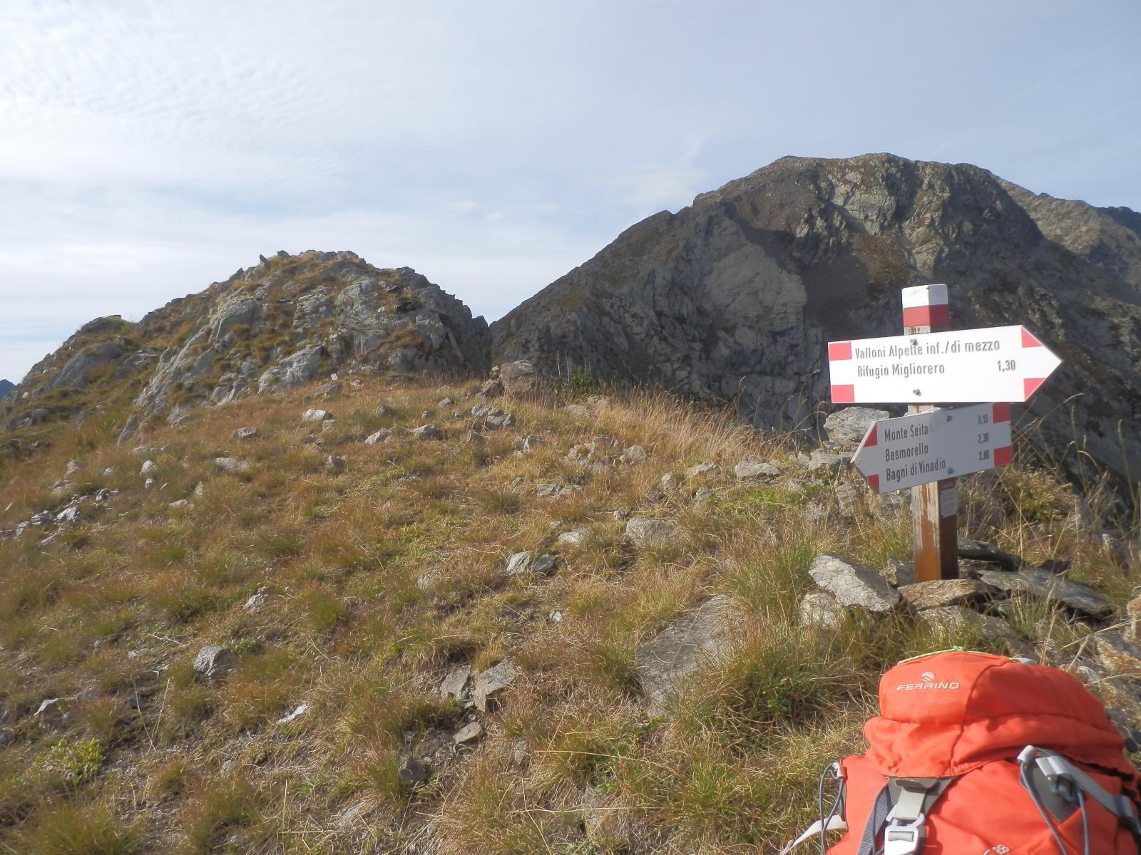 dalla Q 2515, vista verso il Monte Saletta