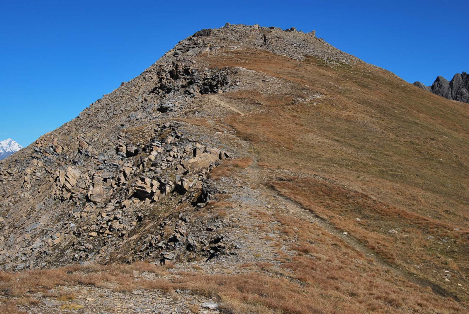 Il Mont Fortin all'arrivo in cresta