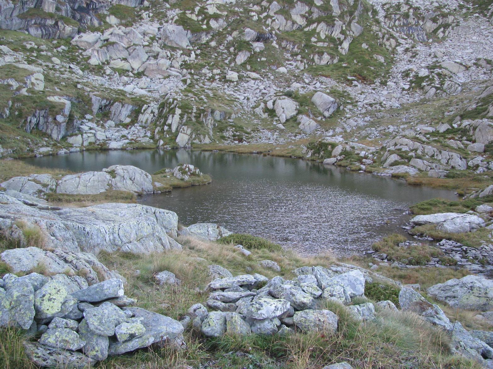 Arrivo al primo lago di Canaussa