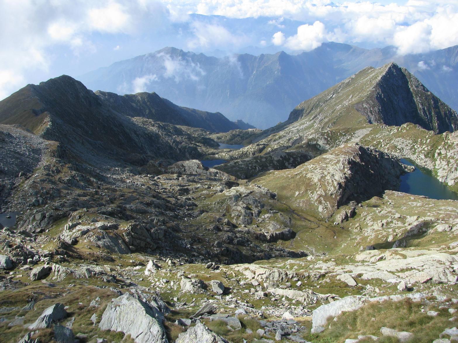 Vista dall'alto del Vallone di Canaussa