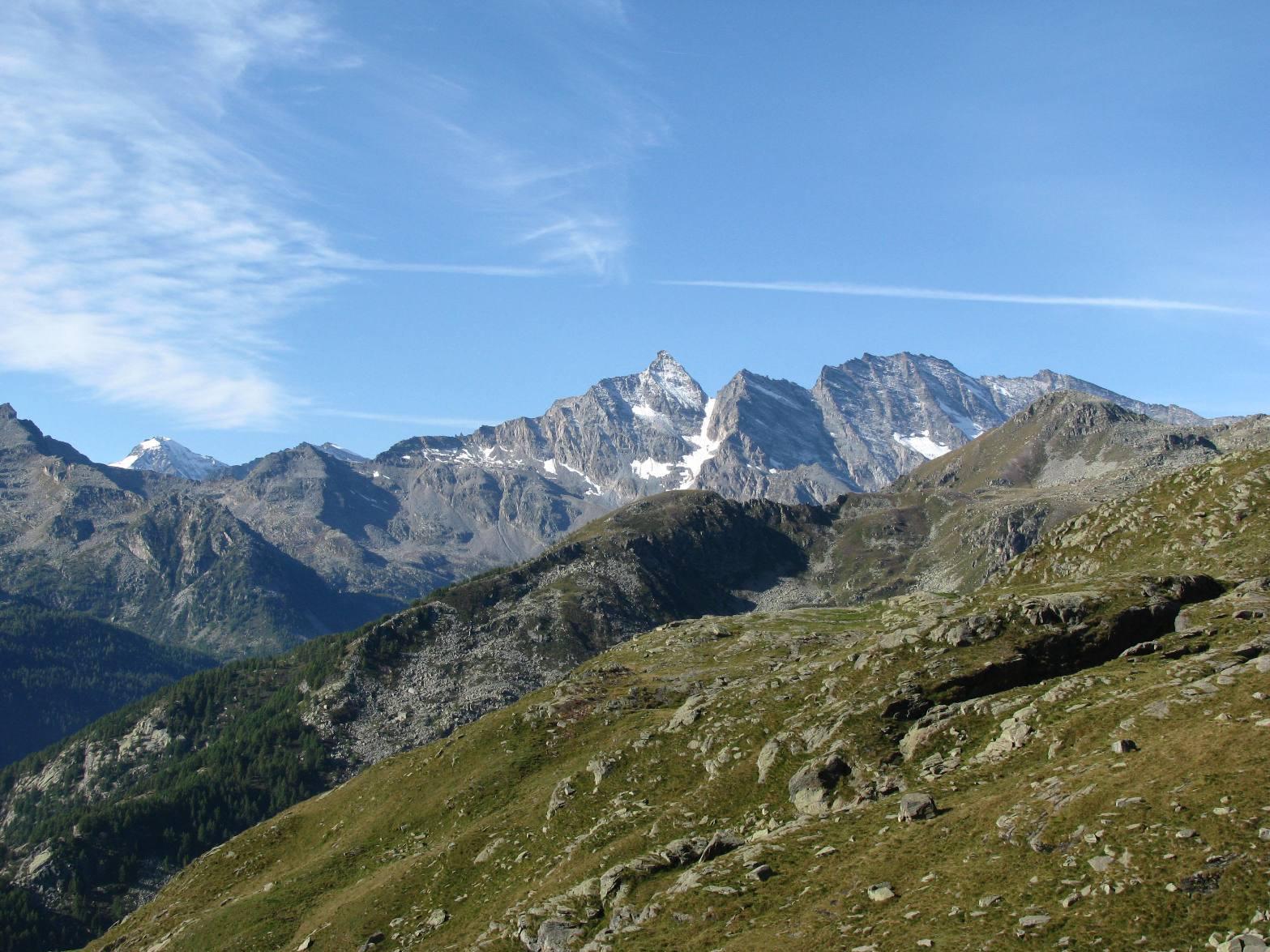 Vista sul Colle Sià e le Levanne