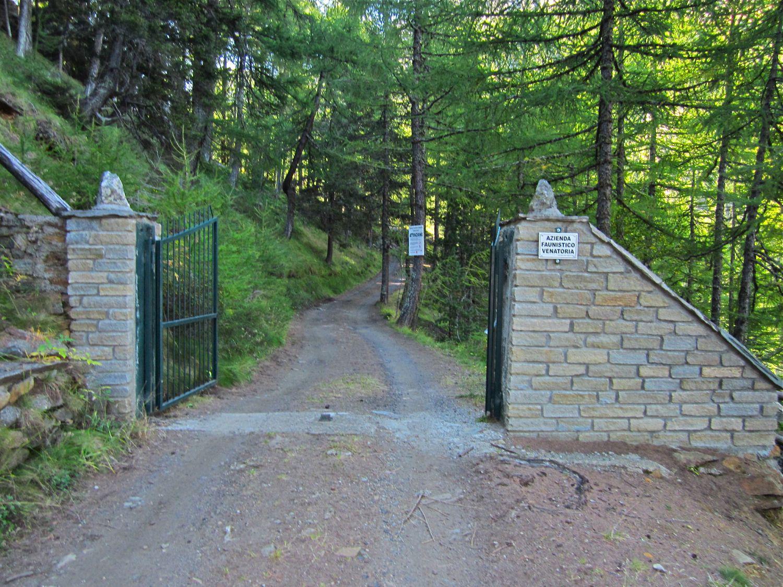 L'ingresso alla riserva