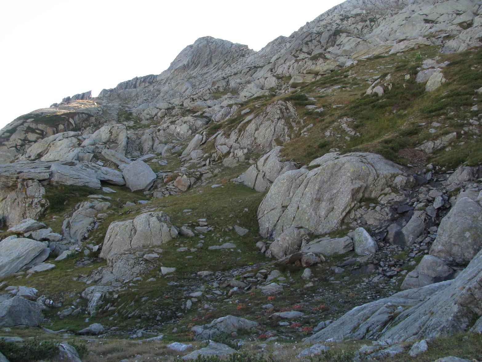 Risalendo il versante nord della Punta del Mariasco