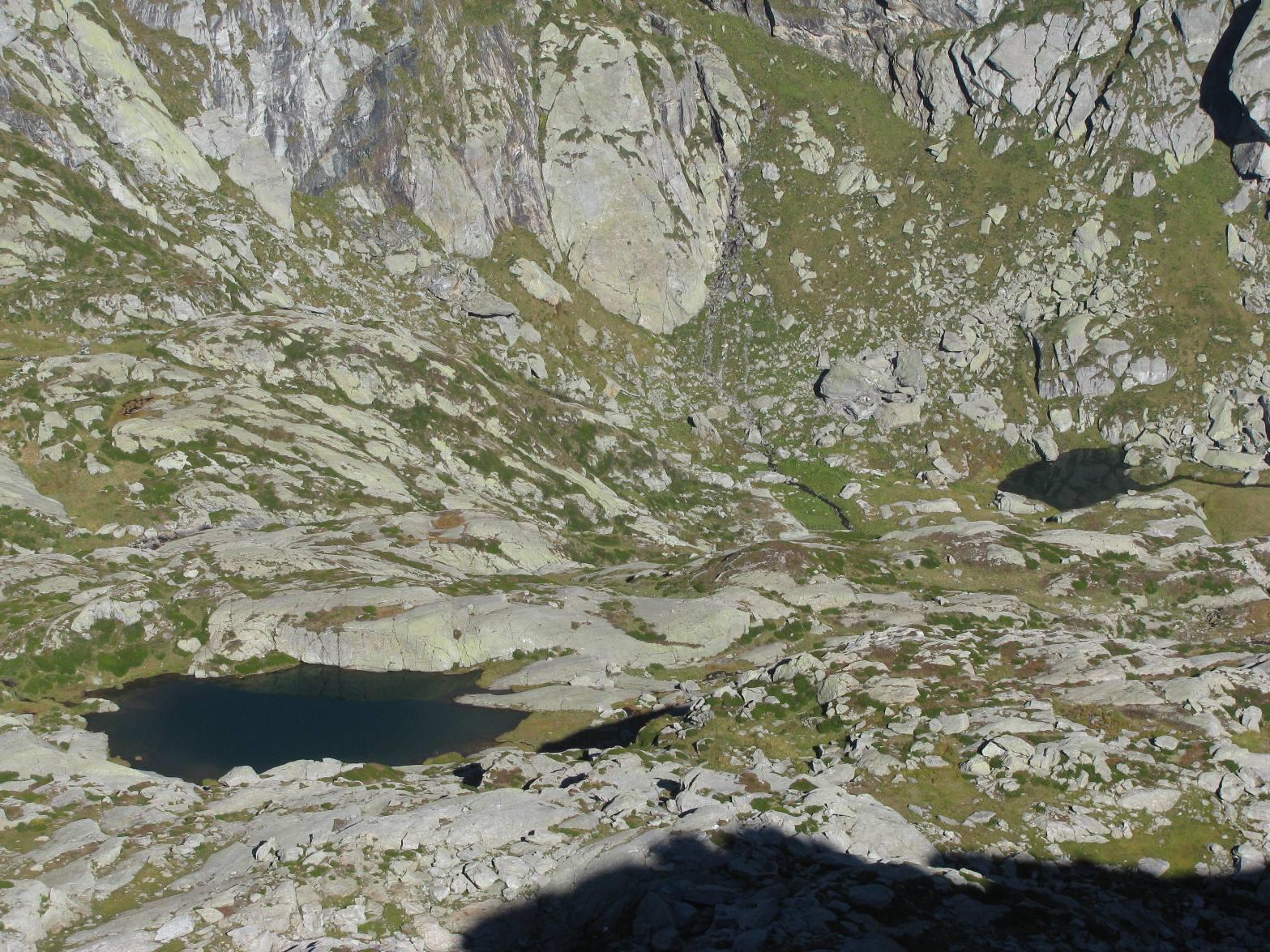dalla vetta, laghi Creus e Sucal