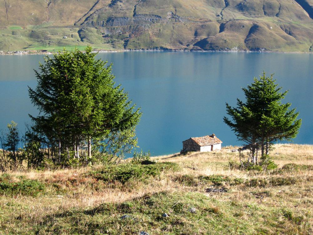 Petit Mont Cenis (Col du) o Piccolo Moncenisio dalla Diga del Moncenisio, giro del Lago 2014-09-27