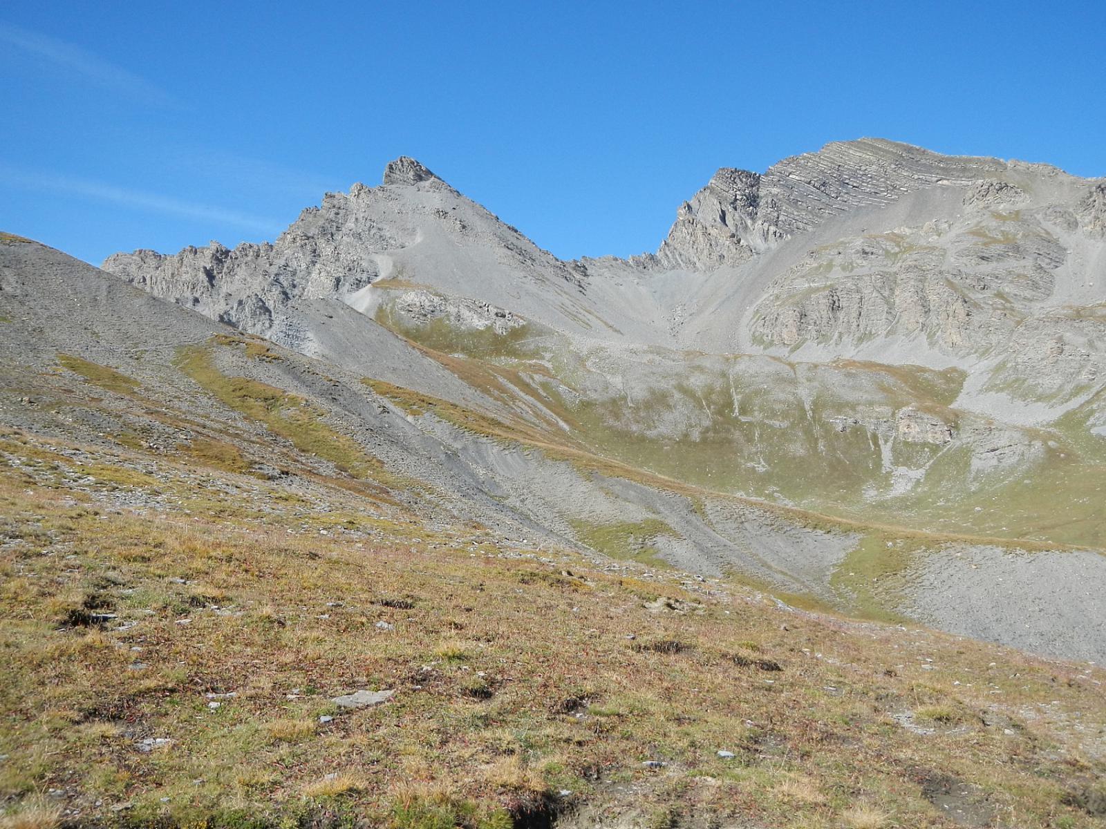 dal Colle di Puriac: Rocca dei Tre Vescovi, Col de la Vigne, Monte Enchastraye