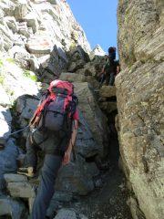 Canale d'accesso alla parte alpinistica