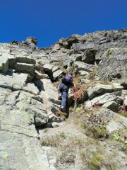 Papà in arrampicata