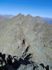 Cresta verso il Granero e rifugio Giacoletti