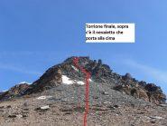 10 - Torrione finale per la cima, dove passare