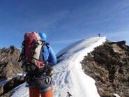 12 - il nevaio di vetta, ultimo breve tratto di salita