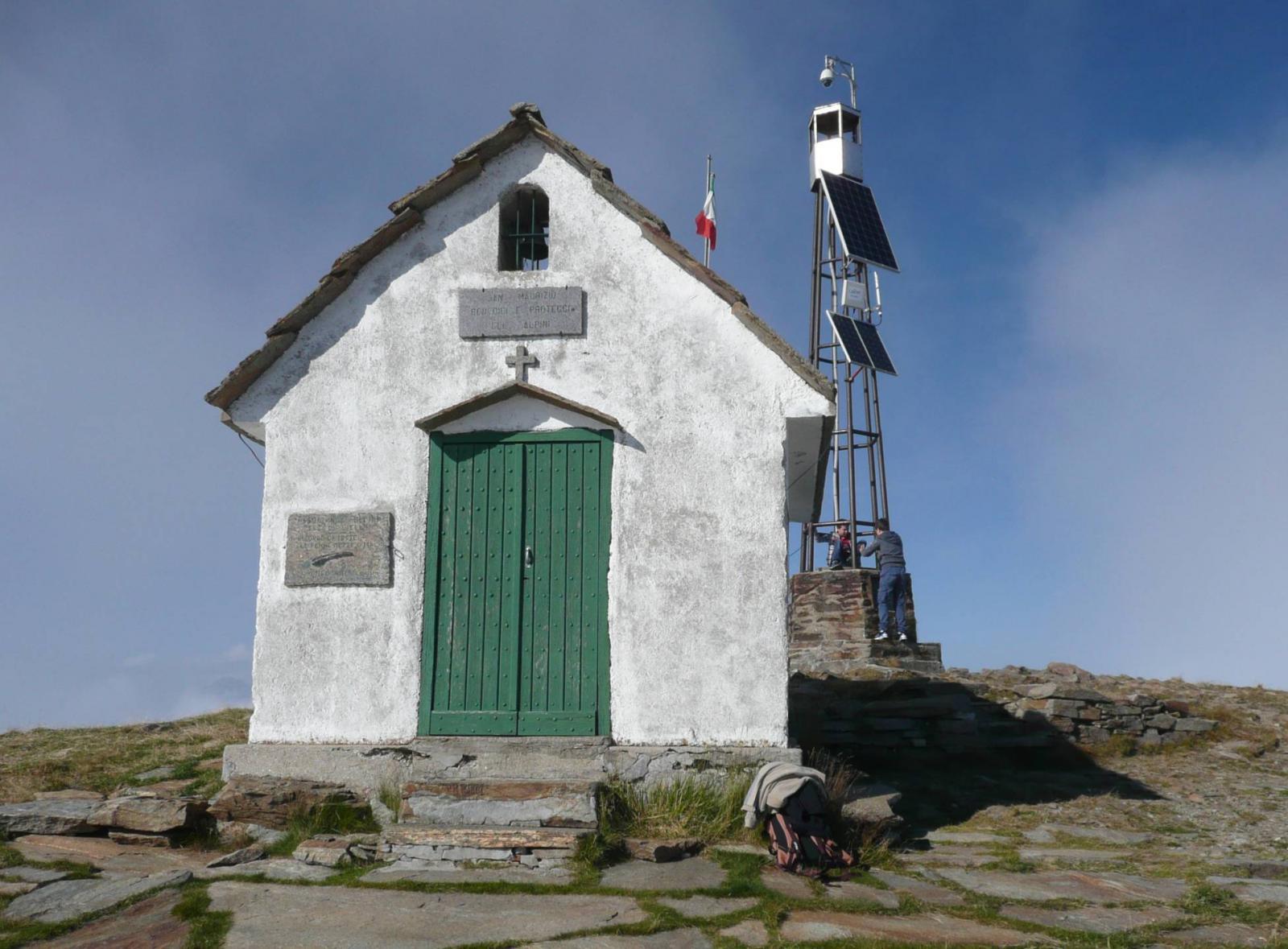 finalmente al Camino, la cappelletta degli Alpini dedicata a San Maurizio