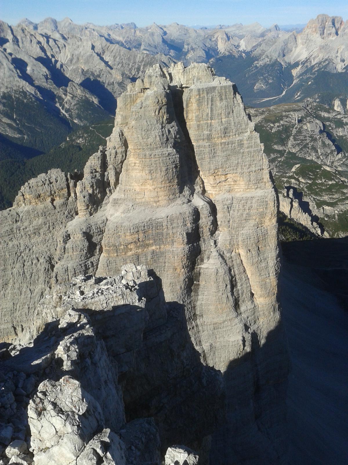 Vista sulla cima Ovest, dalla vetta della Grande