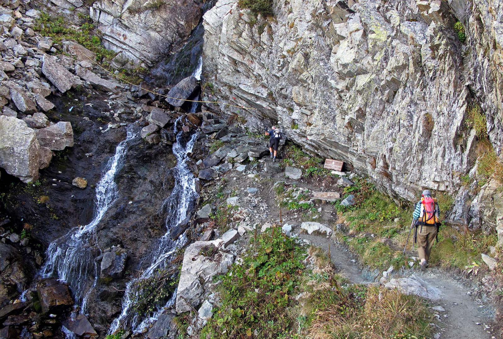 Al passaggio della cascata