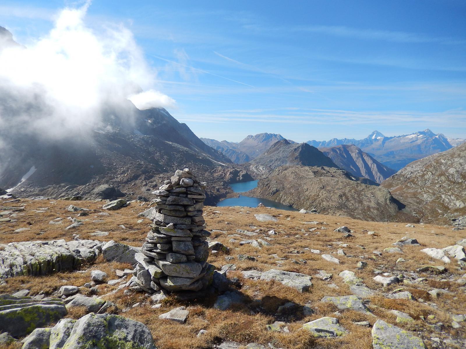 Panorama sull' Oberland dal P.sso di Crampiolo